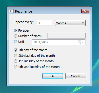 Windows Calendar