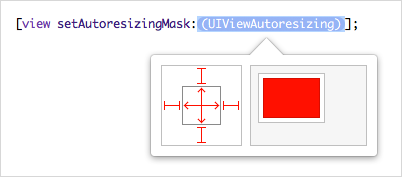 Setting a view's autoresizing mask