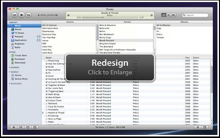 iTunes Redesign