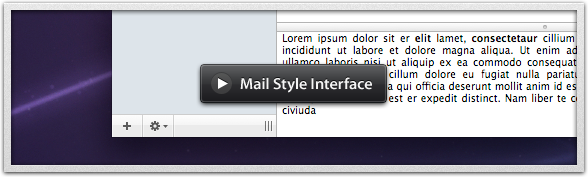 Make a Mail.app style interface